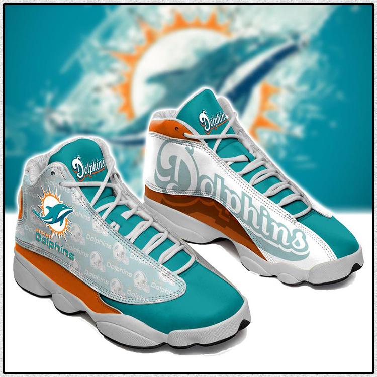 Miami Dolphins Air jordan 13 Football sneaker2