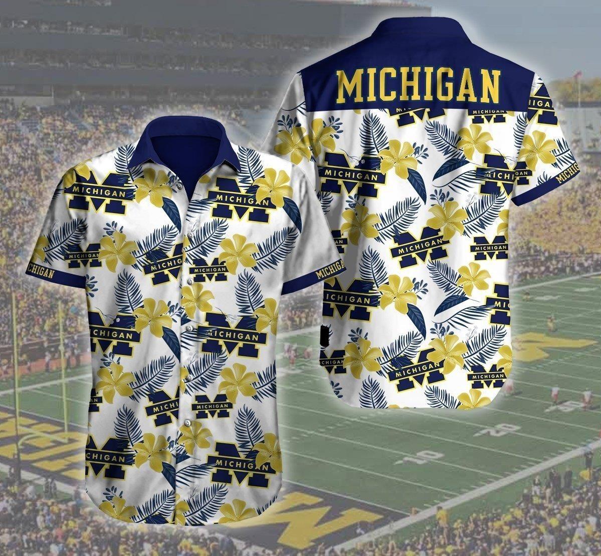 Michigan Wolverines NCAA Hawaiian Shirt