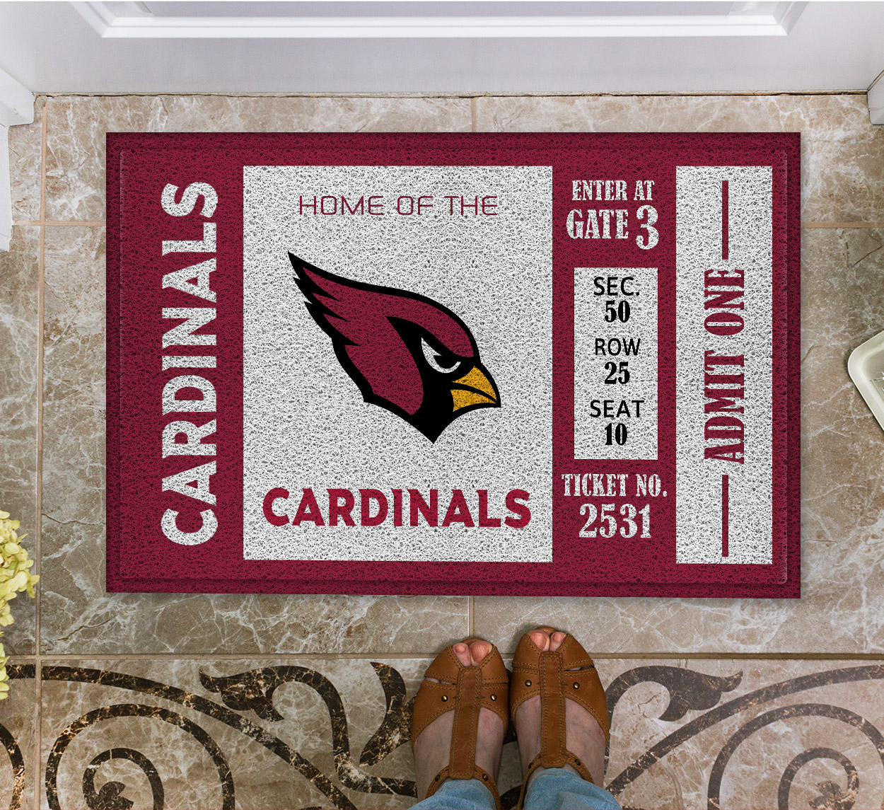 NFL Arizona Cardinals Team Ticket Runner Doormat