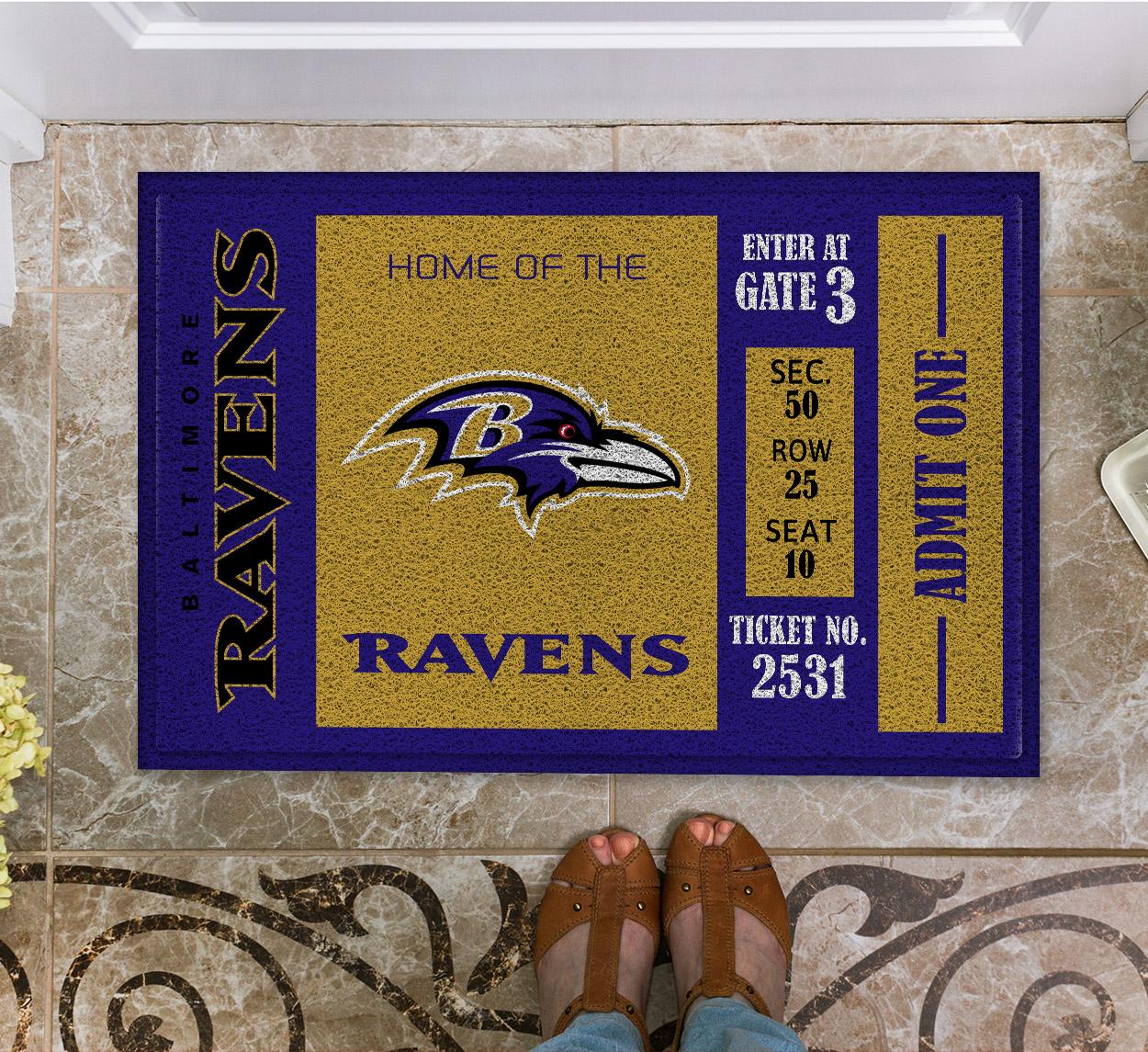 NFL Baltimore Ravens Team Ticket Runner Doormat