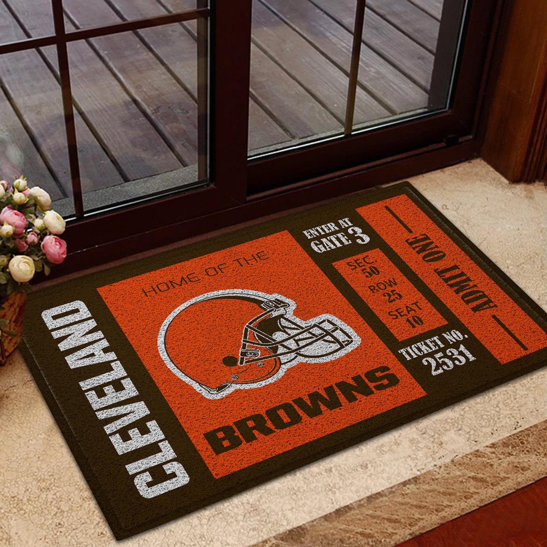 NFL Cleveland Browns Team Ticket Runner Doormat
