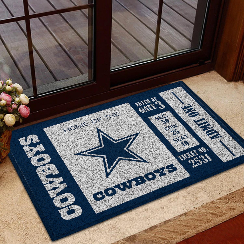 NFL Dallas Cowboys Team Ticket Runner Doormat