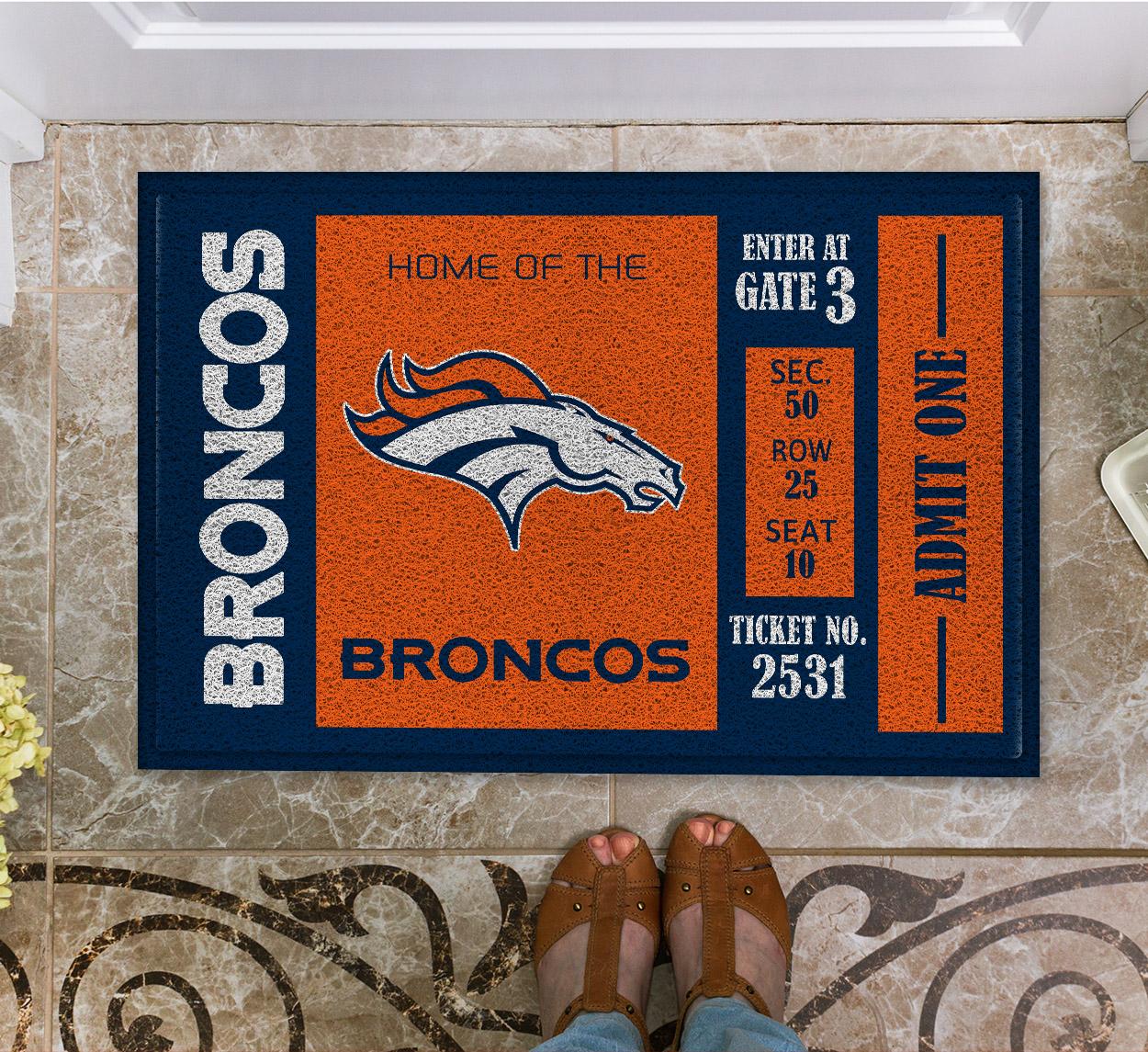 NFL Denver Broncos Team Ticket Runner Doormat