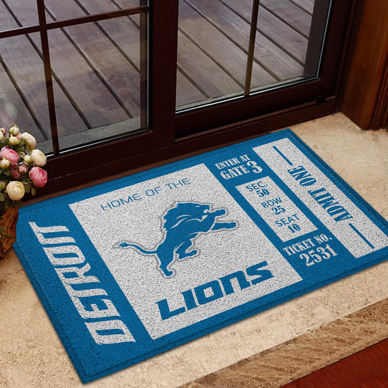 NFL Detroit Lions Team Ticket Runner Doormat