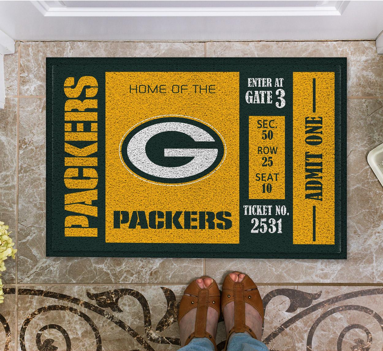 NFL Green Bay Packers Team Ticket Runner Doormat