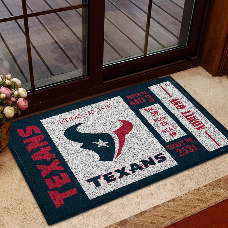 NFL Houston Texans Team Ticket Runner Doormat