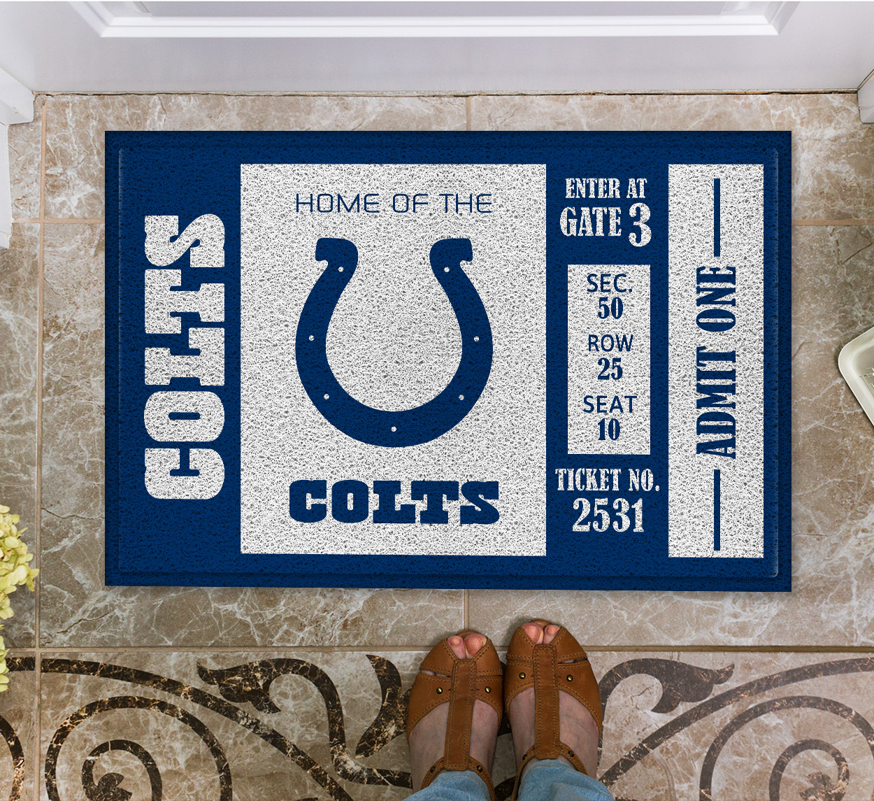 NFL Indianapolis Colts Team Ticket Runner Doormat