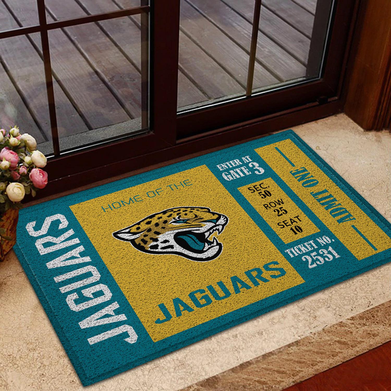 NFL Jacksonville Jaguars Team Ticket Runner Doormat