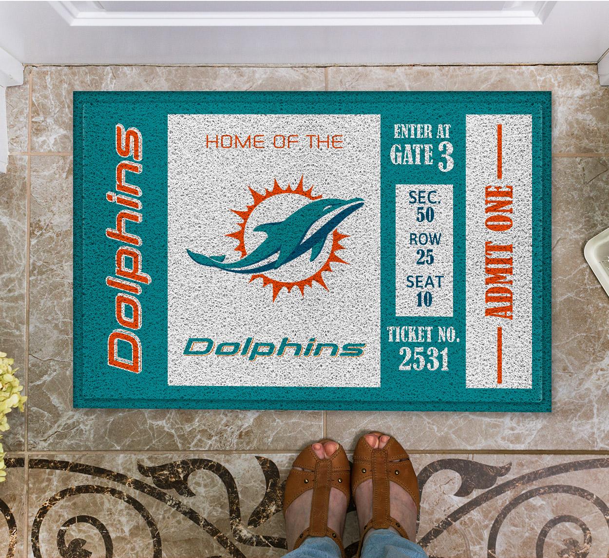 NFL Miami Dolphins Team Ticket Runner Doormat