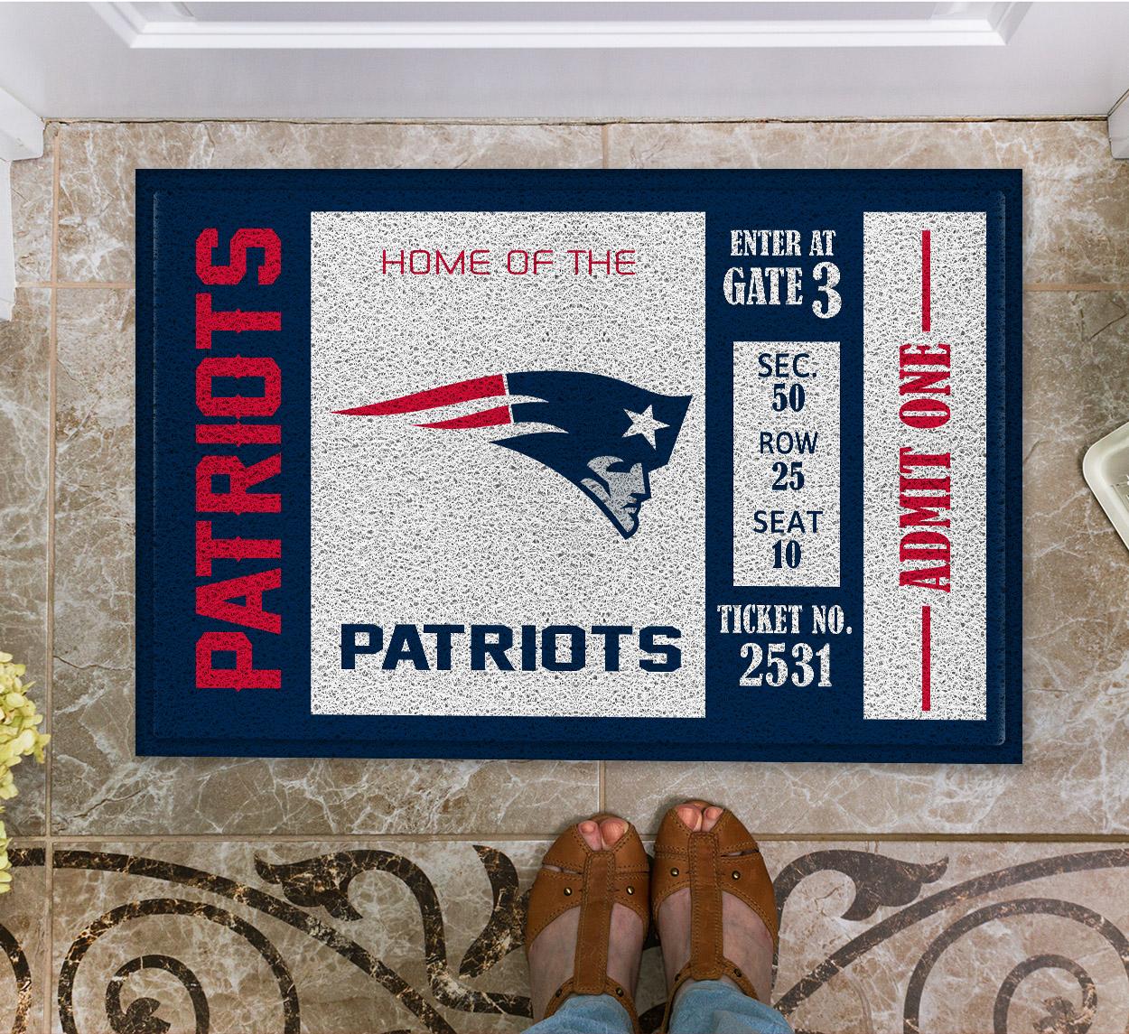 NFL New England Patriots Team Ticket Runner Doormat