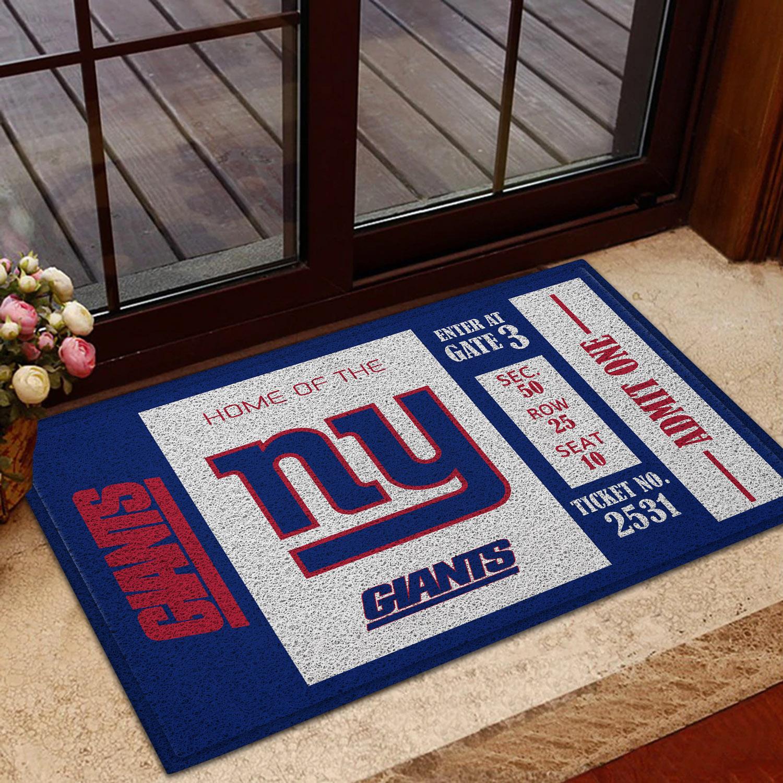 NFL New York Giants Team Ticket Runner Doormat
