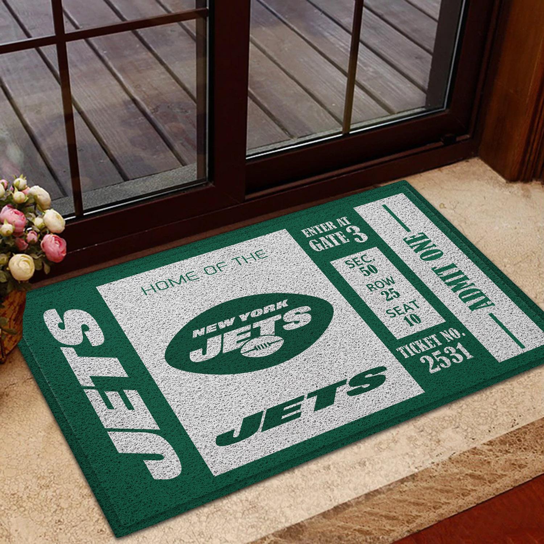 NFL New York Jets Team Ticket Runner Doormat