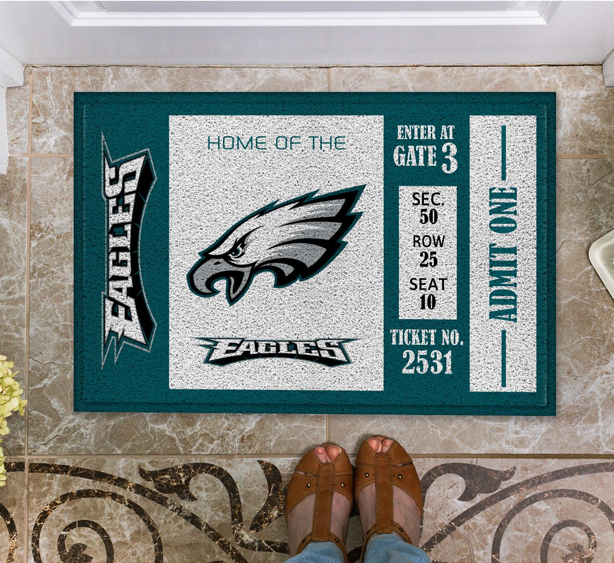 NFL Philadelphia Eagles Team Ticket Runner Doormat