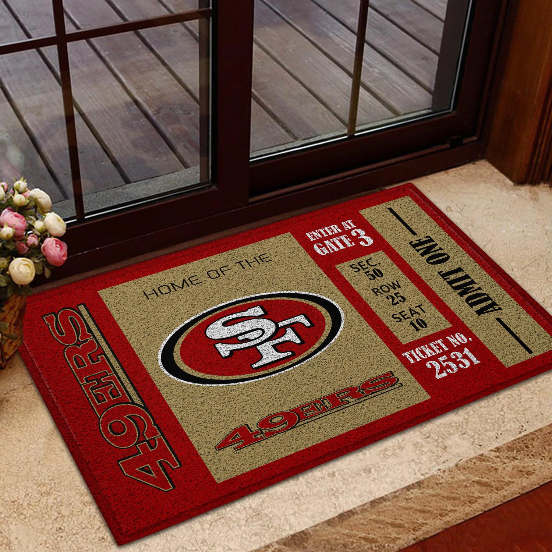 NFL San Francisco 49ers Team Ticket Runner Doormat