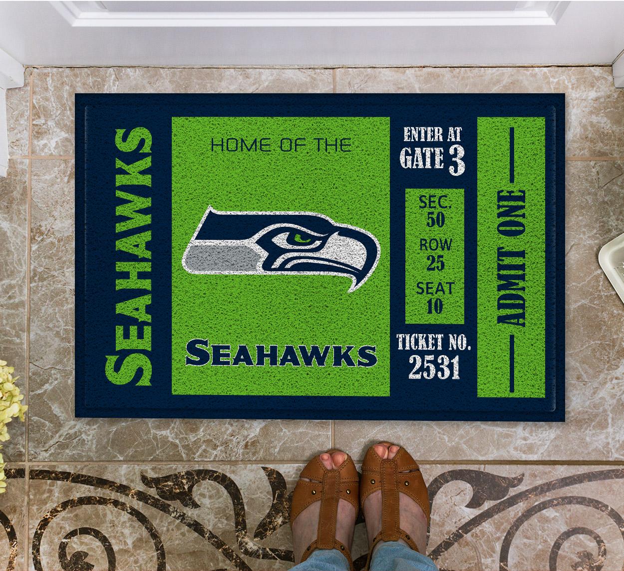 NFL Seattle Seahawks Team Ticket Runner Doormat