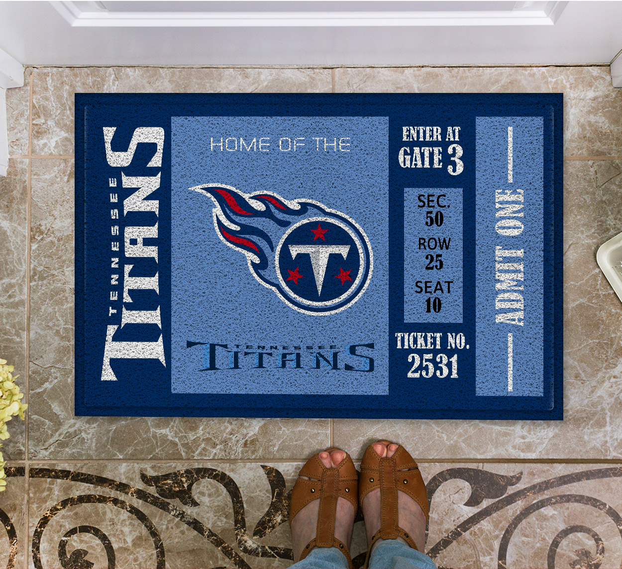 NFL Tennessee Titans Team Ticket Runner Doormat