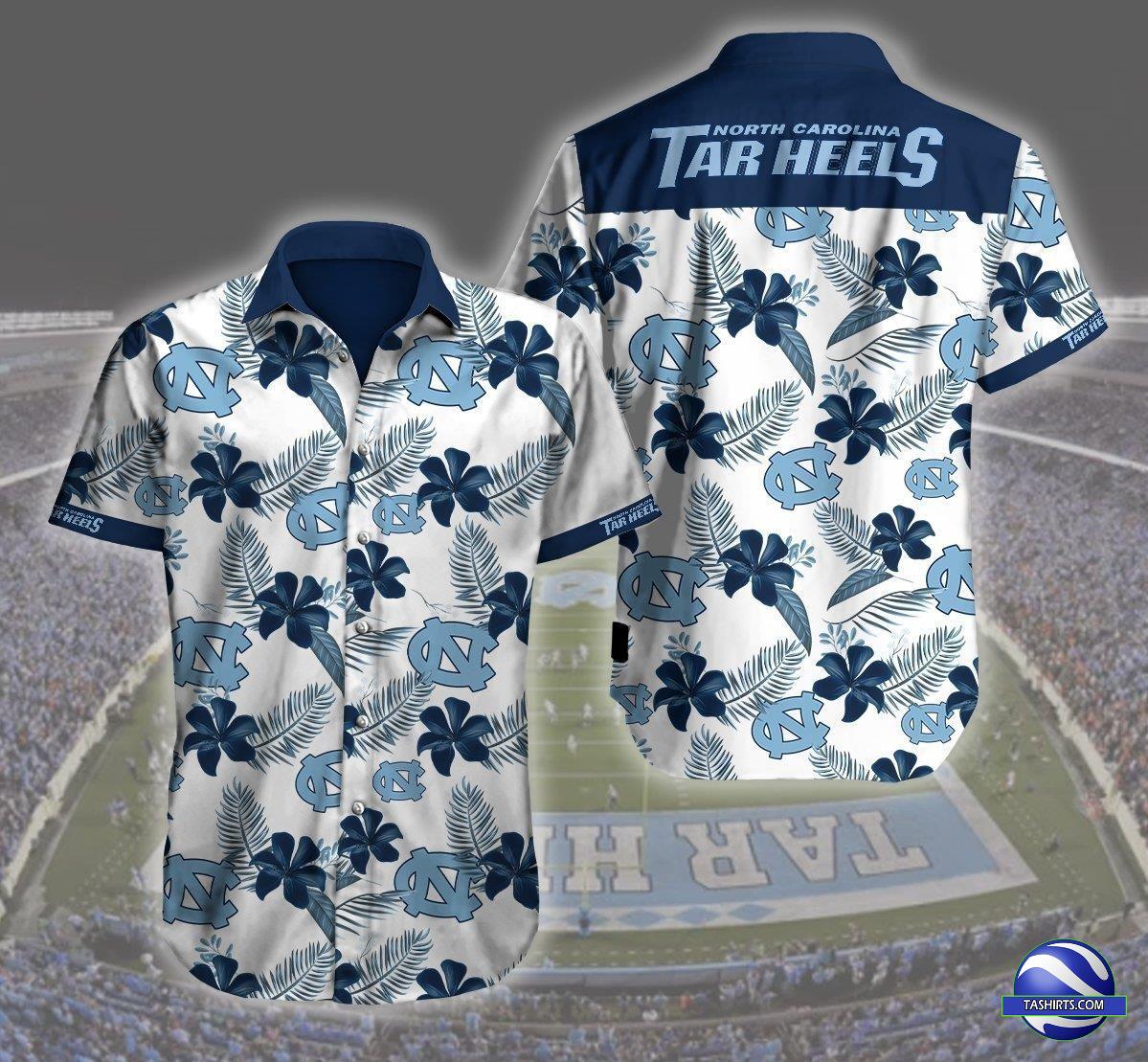 North Carolina Tar Heels NCAA Hawaiian Shirt