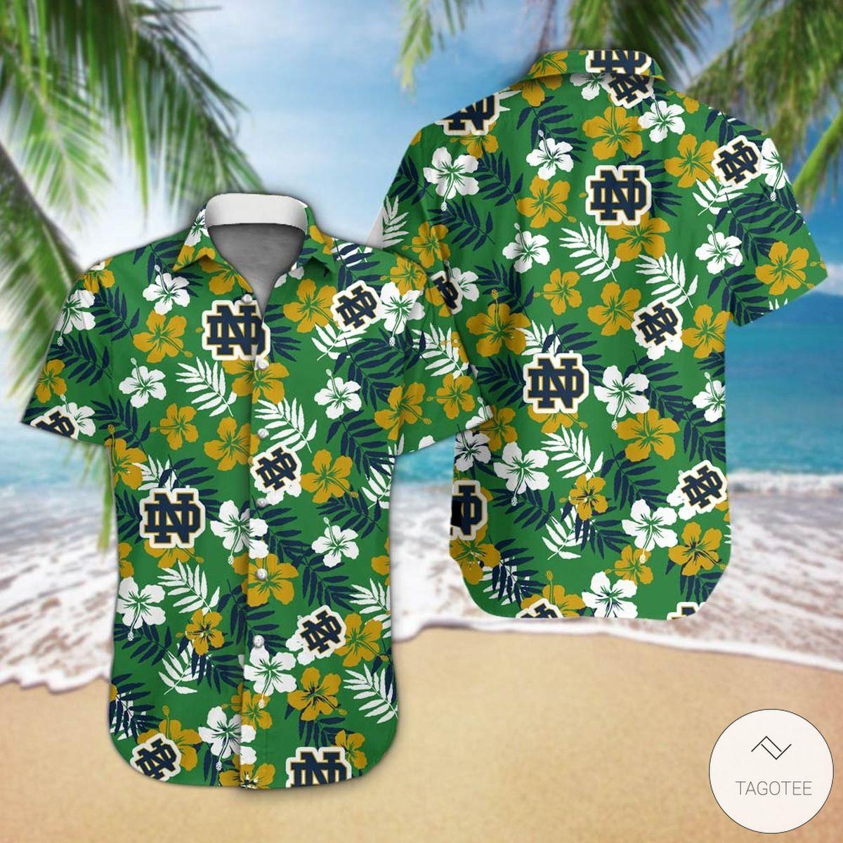 Notre Dame Fighting Irish football Hawaiian Shirt
