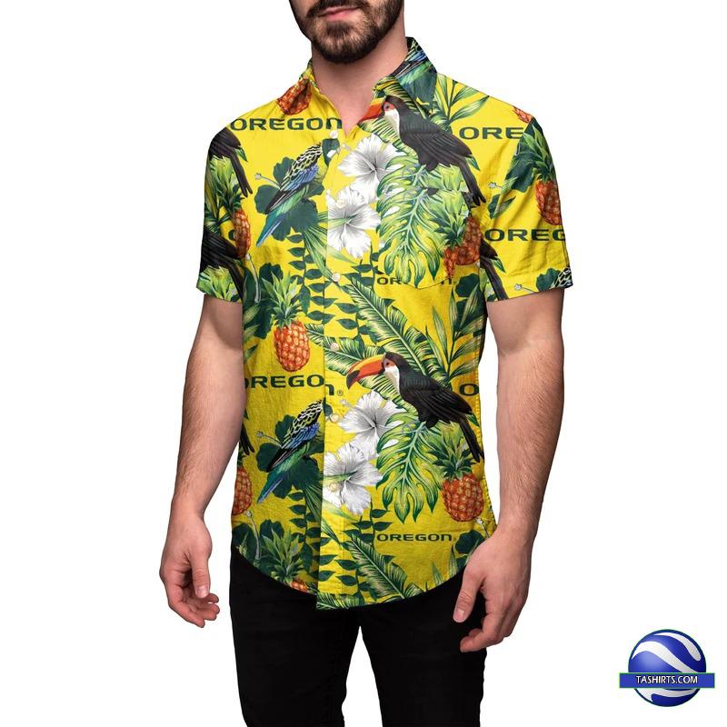 Oregon Ducks NCAA Hawaiian Shirt
