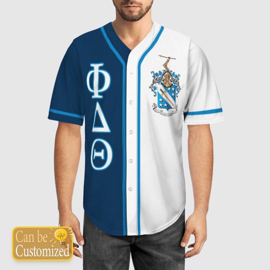 Phi Delta Theta Personalized Baseball Jersey 1