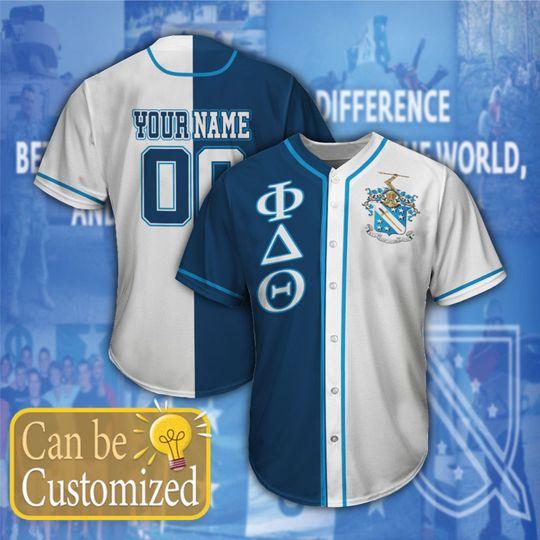 Phi Delta Theta Personalized Baseball Jersey1 1