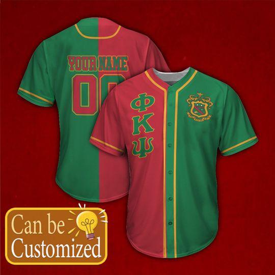 Phi Kappa Psi Personalized Baseball Jersey 1