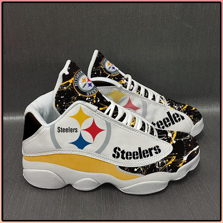 Pittsburgh Steelers football Team Form AIR Jordan 13 Sneakers4