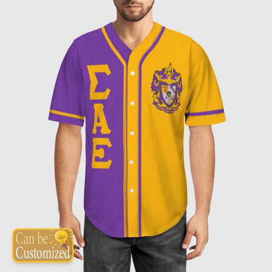 Sigma Alpha Epsilon Personalized Baseball Jersey 1