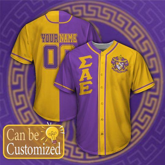 Sigma Alpha Epsilon Personalized Baseball Jersey1 1
