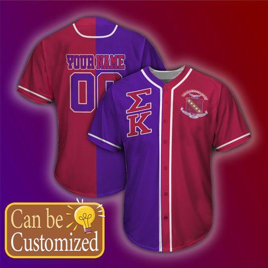 Sigma Kappa Personalized Unisex Baseball Jersey 1
