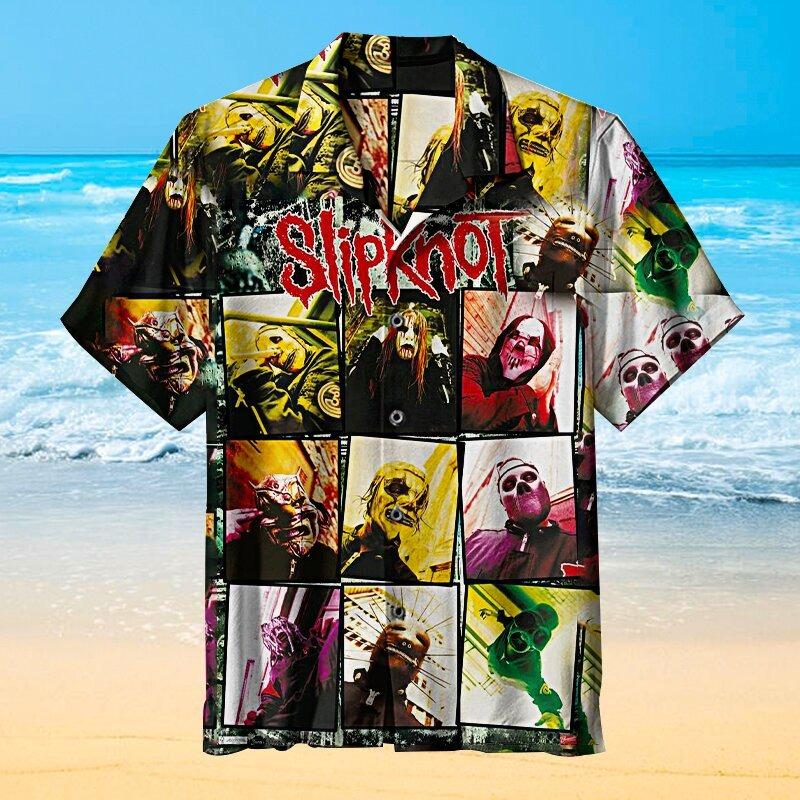 Slipknot Short Sleeve Hawaiian Shirt