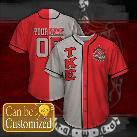 Tau Kappa Epsilon Personalized Baseball Jersey 1