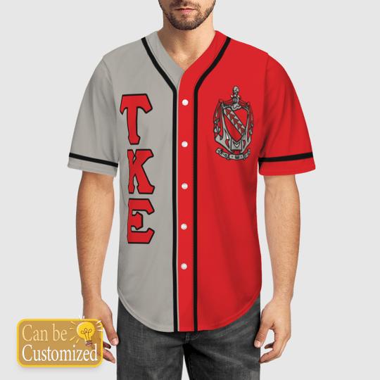 Tau Kappa Epsilon Personalized Baseball Jersey1 1