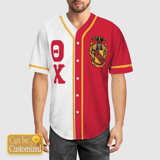 Theta Chi Personalized Baseball Jersey 1