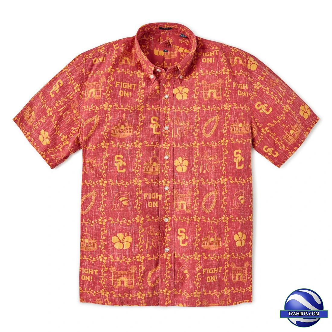 USC Trojans NCAA Hawaiian Shirt