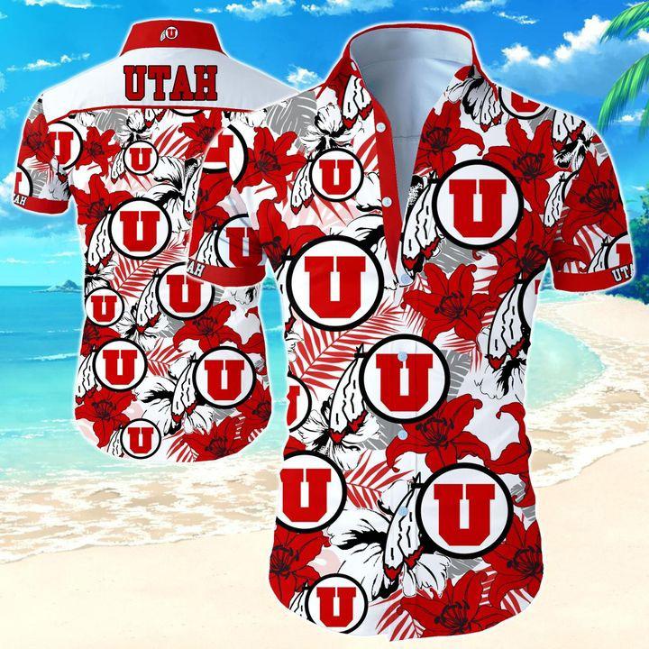 Utah Utes NCAA Hawaiian Shirt
