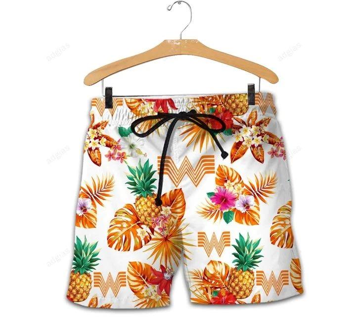Whataburger Hawaiian Shirt Beach Shortsz