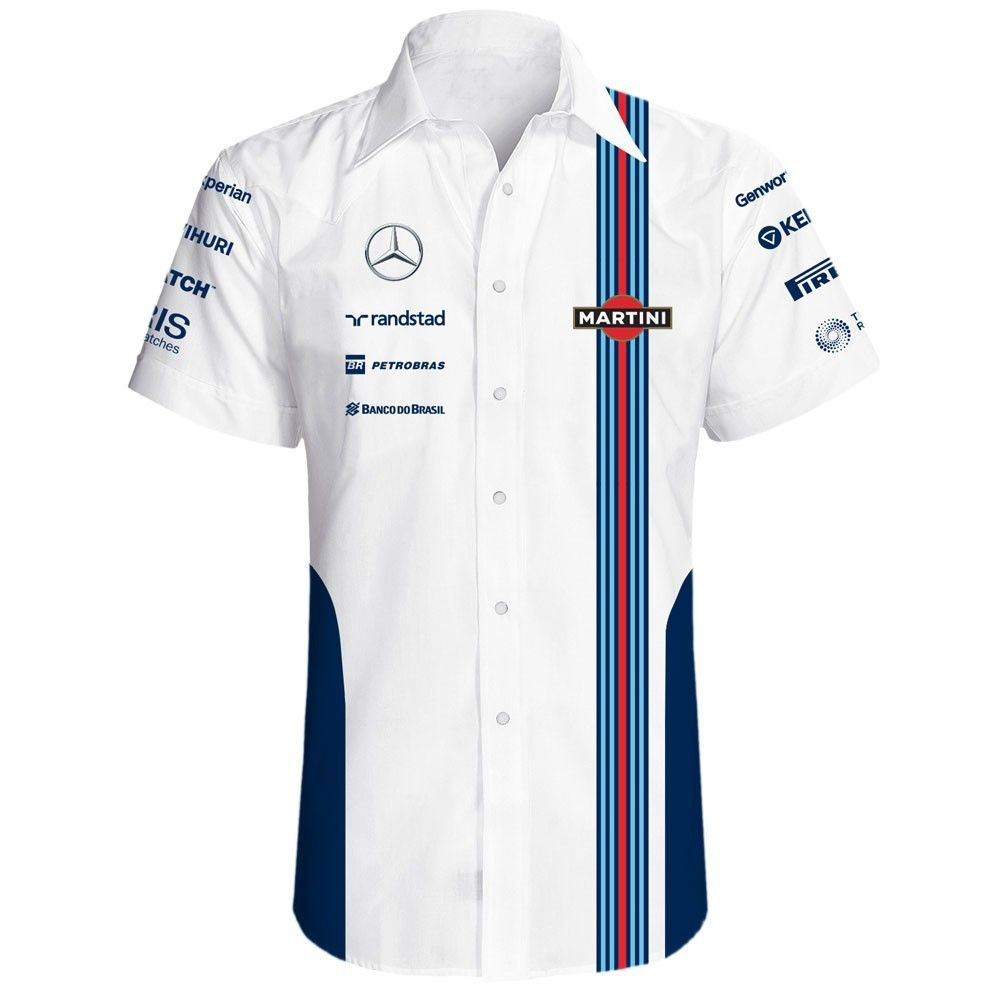 Williams Martini Formula racing f1 hawaiian shirt