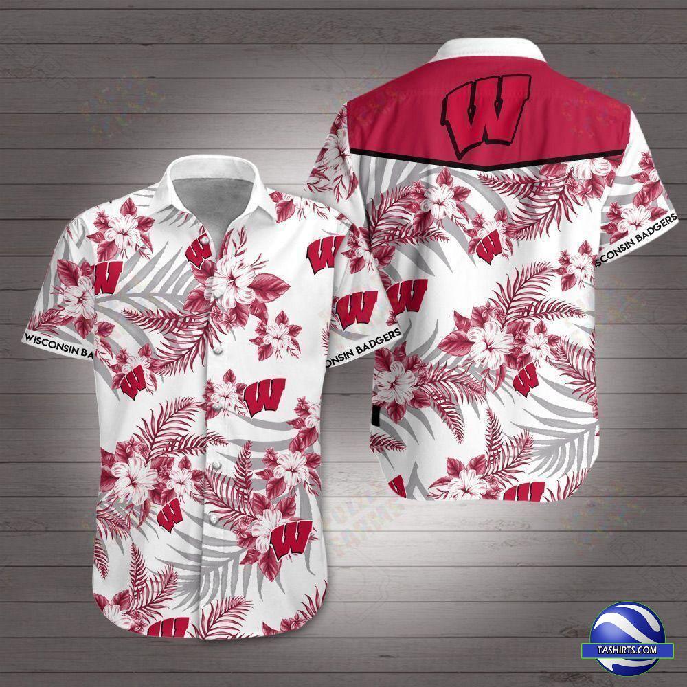 Wisconsin Badgers NCAA Hawaiian Shirt