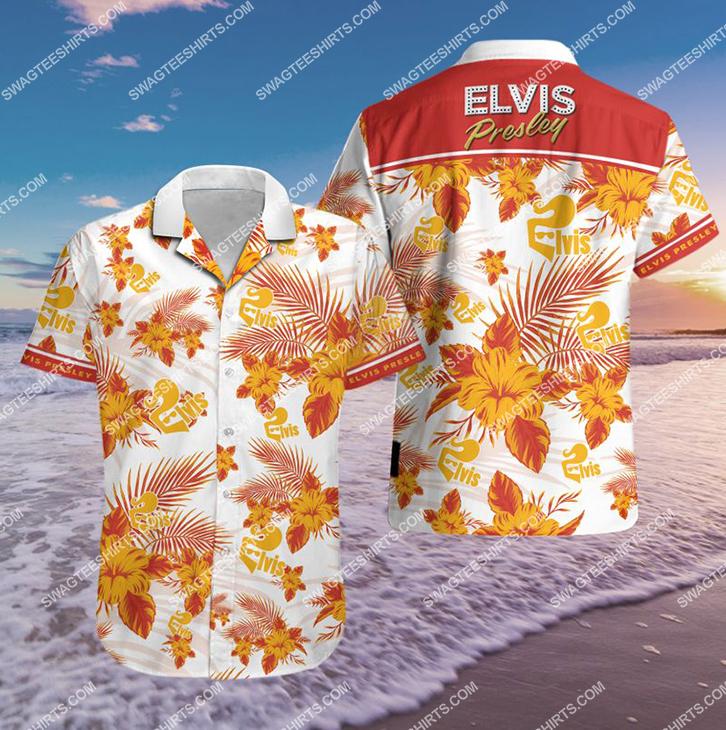 elvis presley singer all over print hawaiian shirt 21