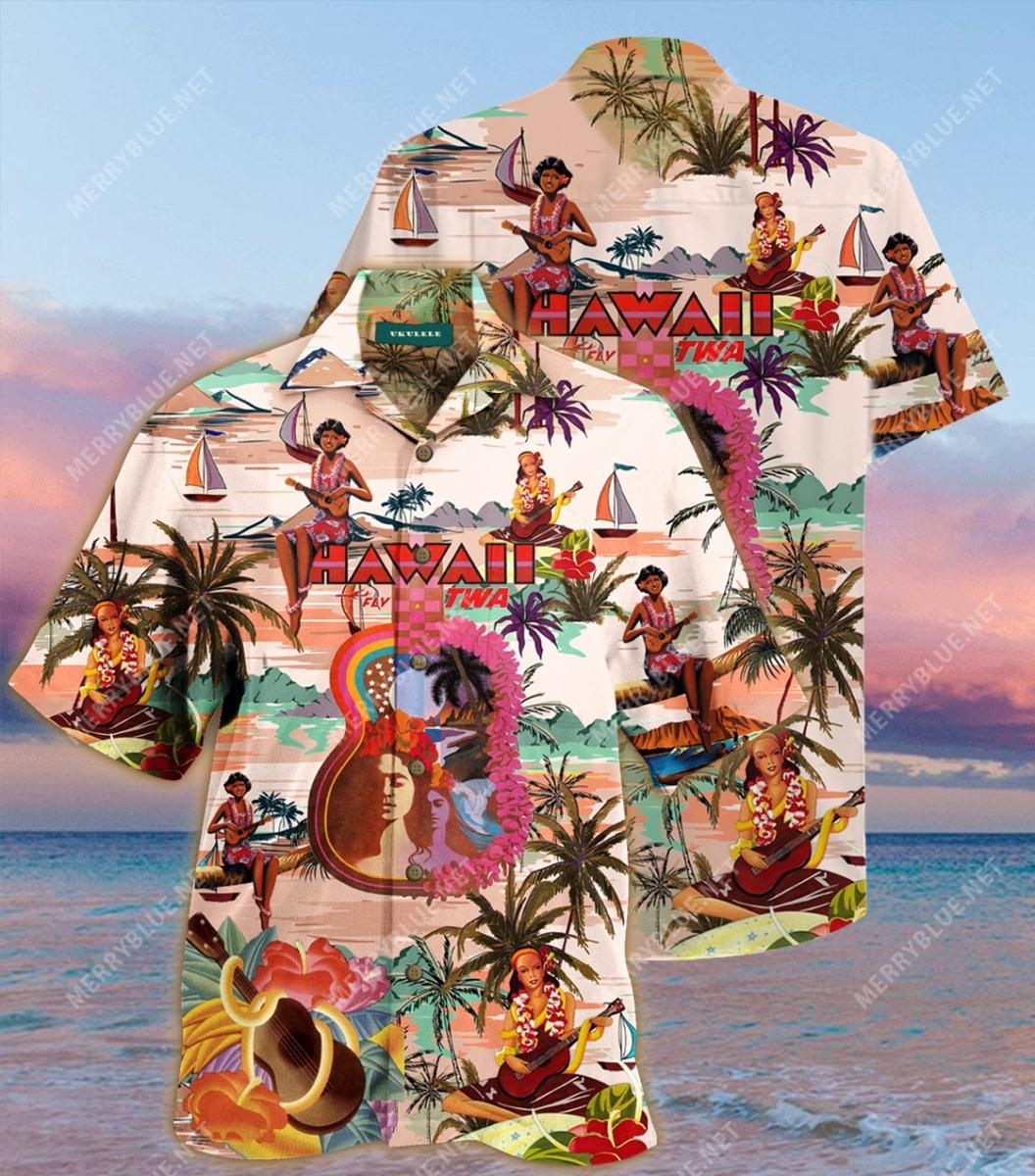 feel the music summer all over printed hawaiian shirt 2