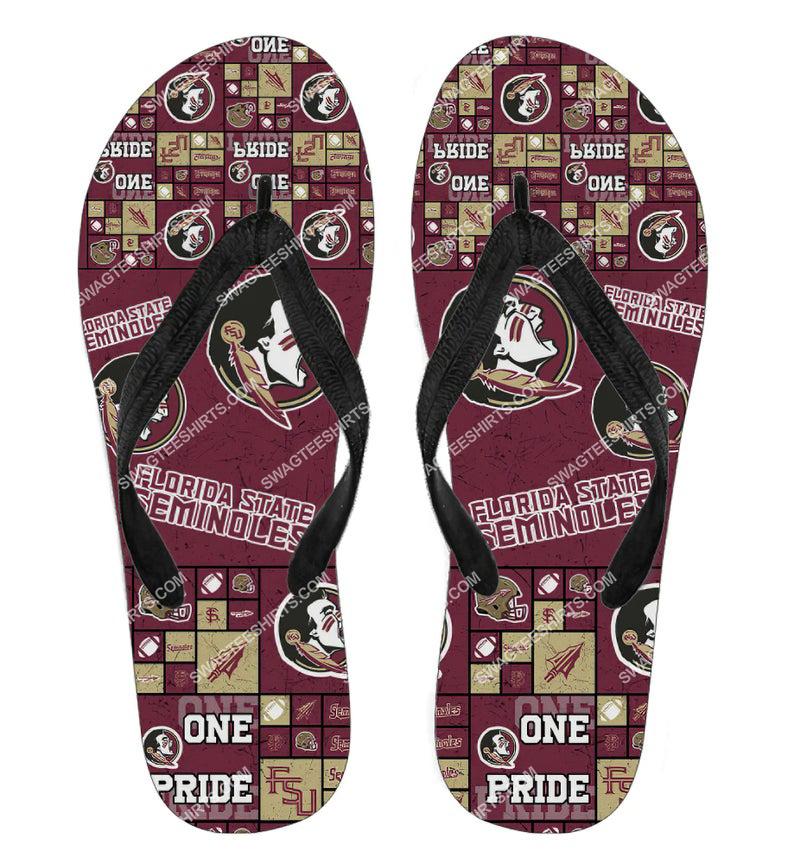 florida state seminoles all over print flip flops 2