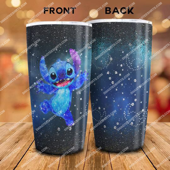 galaxy glitter lilo and stitch movie stainless steel tumbler 21