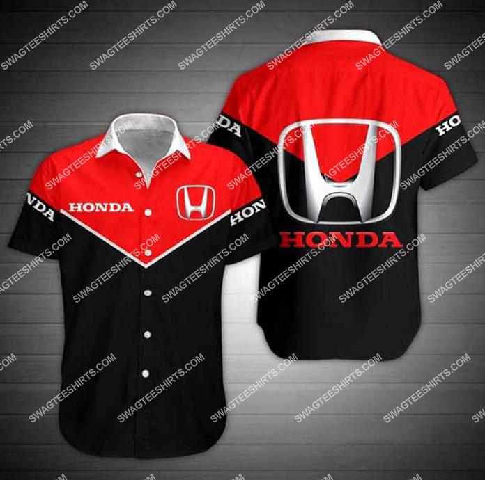 honda symbol all over print hawaiian shirt 1