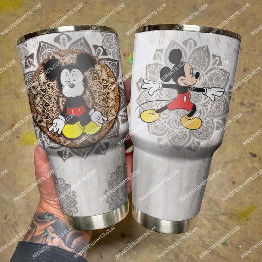 mickey mouse yoga mandala stainless steel tumbler 21