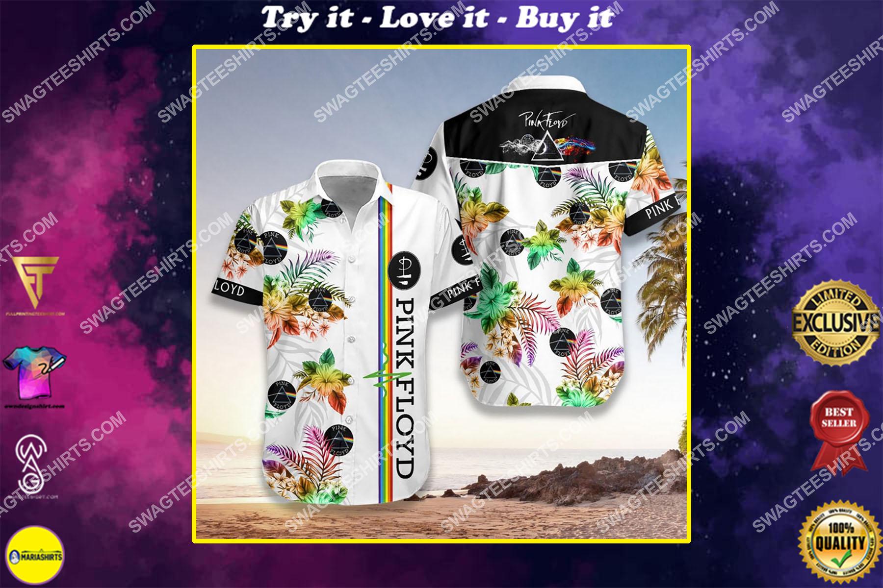 pink floyd legend band full printing hawaiian shirt