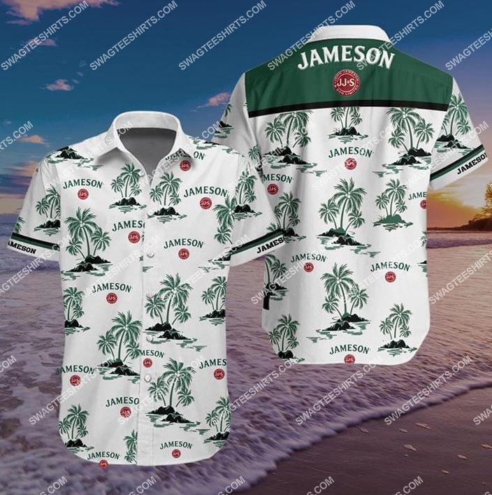 the jameson irish whiskey all over print hawaiian shirt 1