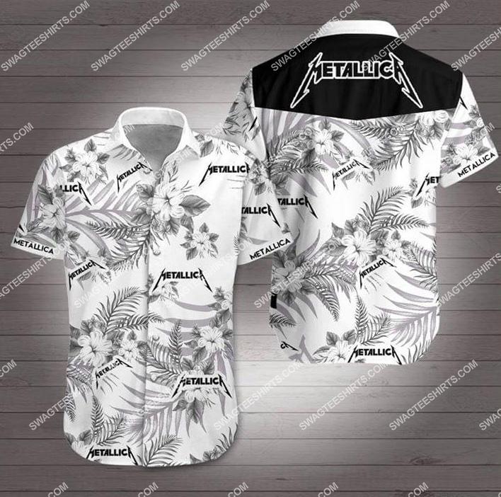 the metallica rock band all over print hawaiian shirt 1