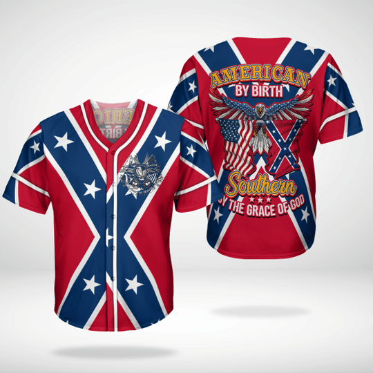 5 American By Birth Southern By The Grace Of God Baseball Jersey Shirt 1