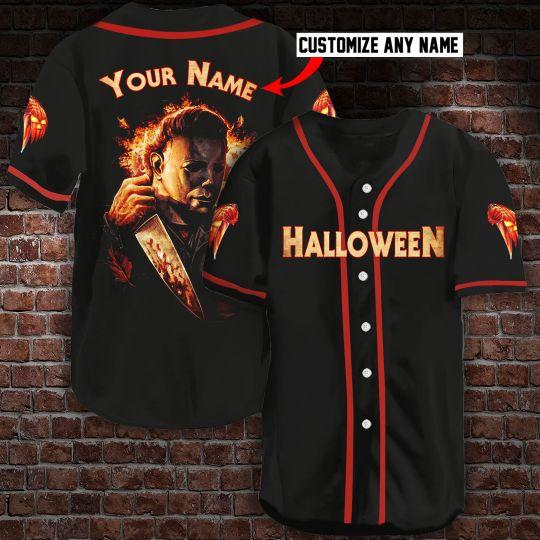 6 Michael Myers Halloween Custom personalized Name Baseball Jersey 1